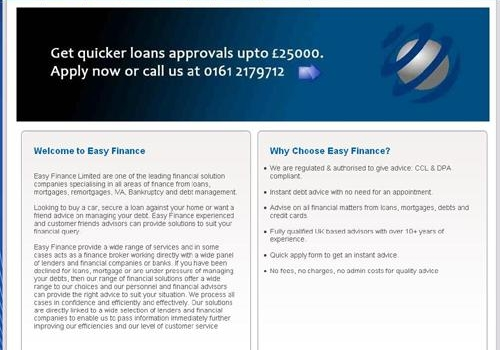 Easy Finance Complete Website with CMS
