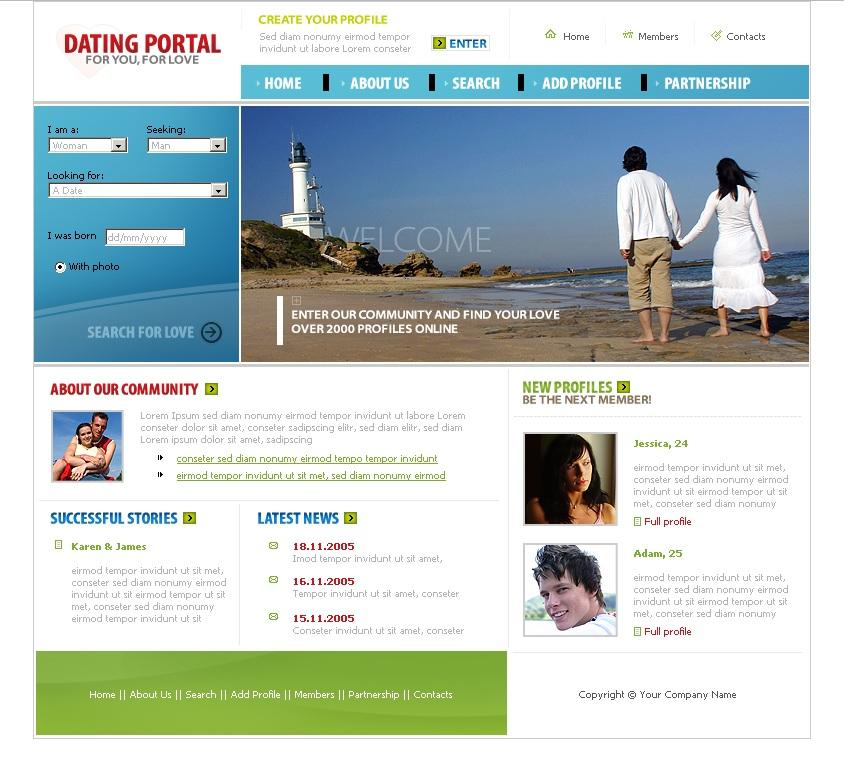 dating-website-front-end-design