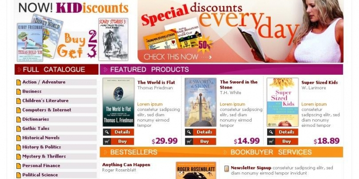 Online Book Store Website Design